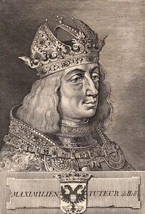 Portrait-XVIIIe-Maximilien-d-039-Autriche-Maximilian-I-Empereur-Romains-Archiduc