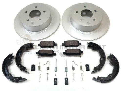 Pour Nissan Juke Arrière 2 Disques De Frein Et Plaquettes /& Frein à Main Chaussures /& Kit de montage
