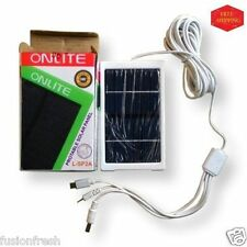 Onlite Rock Light Solar Panel Charger Mobile Phone Power Bank Torches 3 Socket