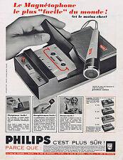 PUBLICITE ADVERTISING 094 1969 PHILIPS le magnétophone le plus facile du monde