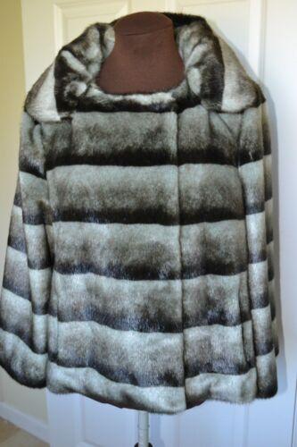 M Women's Size Jacket Klein Calvin Faux Fur zqtwS