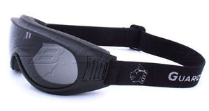 Guard-Dogs Aggressive Eyewear Commander 1 Smoke FogStopper Matte Black Goggles