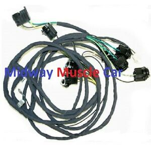 rear panel tail lamp light wiring harness 70 71 72 73 Pontiac ... on pro touring firebird, mcq firebird, 60s firebird, green and black firebird, pontiac firebird,