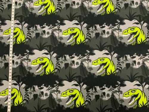 Jersey Steinbeck grüne Dinosaurierköpfe Dinos