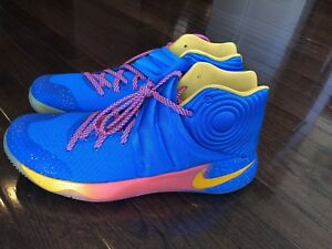 sports shoes 37795 758c0 Image is loading Nike-Kyrie-2-Promo-EYBL-Blue-Gold-Crimson-