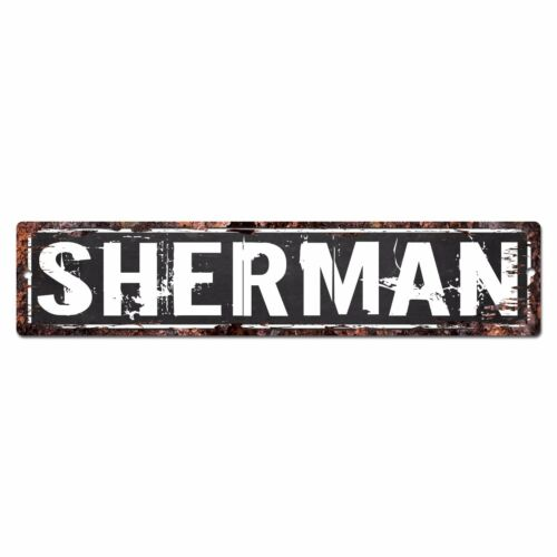 SLND0422 SHERMAN CAVE Street Chic Sign Home man cave Decor Gift