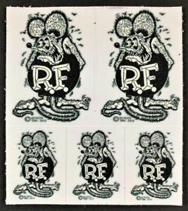 Mini-B-W-Rat-Fink-STICKERS-Decals-Ed-Big-Daddy-Roth-Five-Mini-039-s-In-One-Kiss-Cut