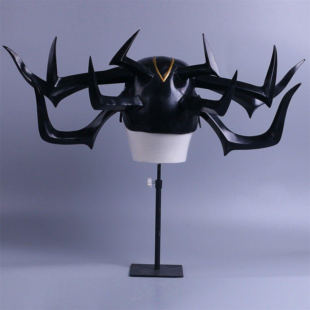 The Thor 3 Hela Cosplay Black Mask Latex Helmet Halloween Christmas Party Props