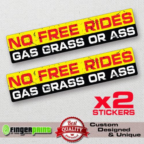 NO FREE RIDES decal sticker vinyl funny bumper JDM 4X4 SUV JEEP OFFROAD GMC evo