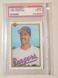 1990 Bowman Juan Gonzalez RC Rookie #492 graded PSA 9 Mint