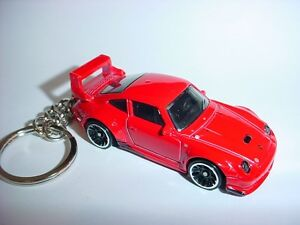 NEW-3D-PORSCHE-993-TURBO-CUSTOM-KEYCHAIN-keyring-key-racing-Red-finish-race-fast