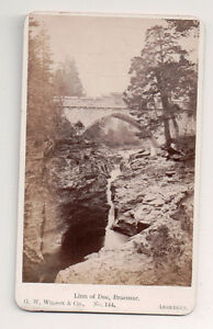 Vintage-CDV-Linn-of-Dee-Braemer-River-Dee-Aberdeenshire-G-W-Wilson-Photo