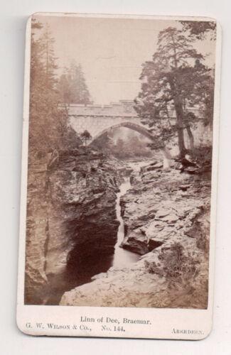 Vintage CDV Linn von Dee Braemer Fluss Dee, Aberdeenshire G.W.Wilson Foto