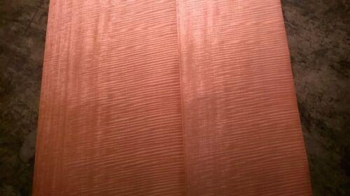 Fiddleback Makore Wood Veneer 16 x 84 4 Sheets. Wide