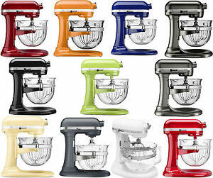 New-KitchenAid-Stand-Mixer-KF26M2X-6-Qt-Pro-600-With-Glass-Bowl-11-Colors