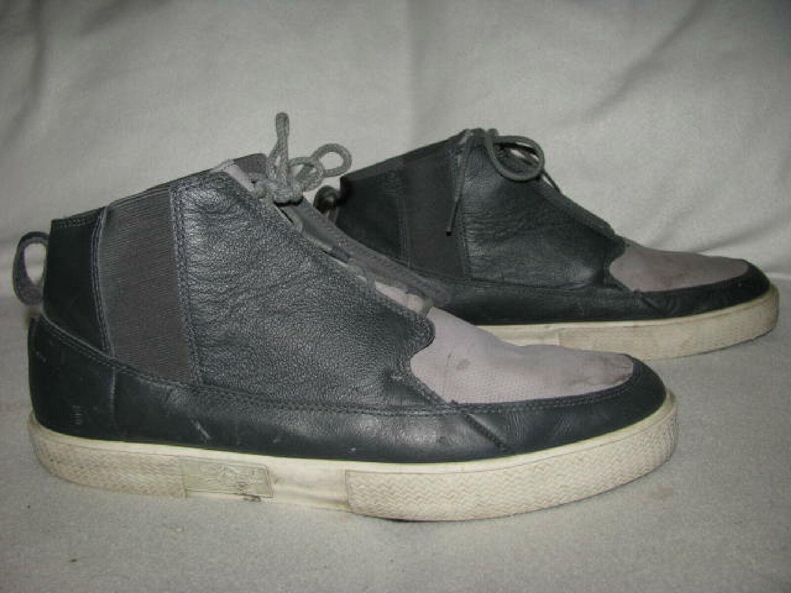 promo code 3b08b d5088 Nike Nike Nike Air JORDAN Men 13 Black Grey Leather Basketball Shoes  414174-012 3678a2