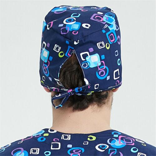 Women/'s Men/'s Skull Chem Scrub Caps//Hats-Pixie-Brick-Florals-Plane Sweatband