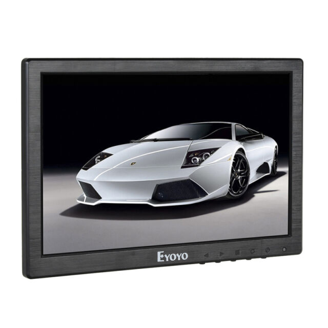 "Portable 10"" Color IPS LCD Digital Monitor AV/VGA/TV/HDMI For CCTV DVD PC GameD6"
