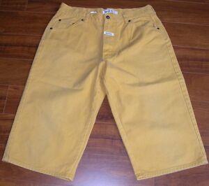 61381fd29e945 Rara De colección jefe 90s Pantalones Cortos Amarillo mostaza para ...