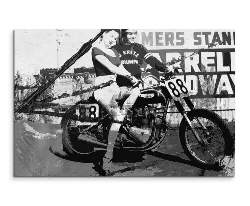 Leinwandbild abstrakt schwarz weiß Motorrad Paul Sinus Abstrakt/_512/_120x80cm