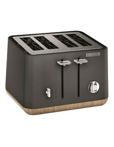 Morphy Richards Scandi Aspect 4 Slice Toaster Titanium 240006