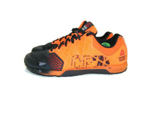 Reebok-Men-039-s-Size-9-US-D-Orange-Black-Crossfit-Nano-4-0-Crossfit-Training-Shoes