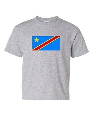 Democratic Republic Of The Congo Country Flag Patriot DT Youth Kids T-Shirt Tee