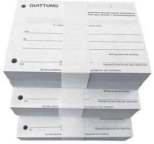 20 x QUITTUNGSBLOCK für Kleinunternehmer, 100 BLATT,QUITTUNG,A6 (22426)