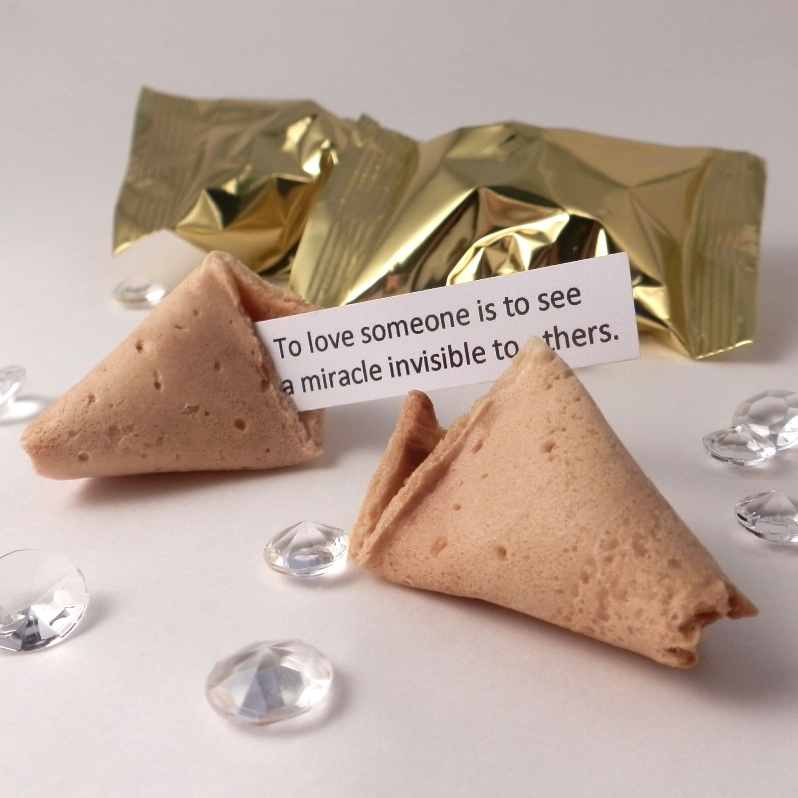 Fortune Cookies  Wedding Quotes Quotes Quotes - Box of 100 - Gold wrapper ecdb11