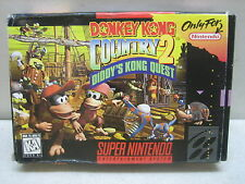 SUPER NINTENDO SNES DONKEY KONG COUNTRY 2 COMPLETE WITH BOX TESTED