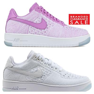 BNIB New Women Nike Air Force 1 Low Fuschia Flyknit Size UK 3 4uk