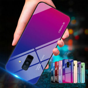 Gradient-Tempered-Glass-Case-For-Samsung-Note-10-S10-Note9-Note8-S8S9-Hard-Cover