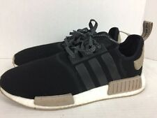 4117c70148c Adidas NMD R1 Exclusive Mens CQ0760 Black Trace Khaki Running Shoes Size  12.5