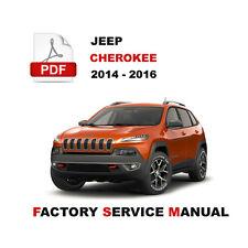 jeep cherokee kl latitude trailhawk 2014 2015 2016 factory service rh ebay com 2014 jeep cherokee service manual pdf 2014 jeep grand cherokee service manual pdf