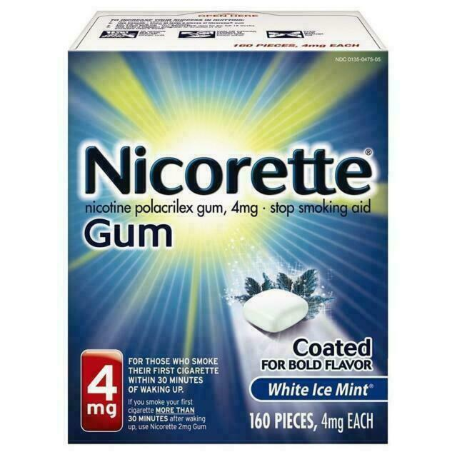 Nicorette 4 Mg Coated White Ice Mint Gum - 160 Count - $41.00