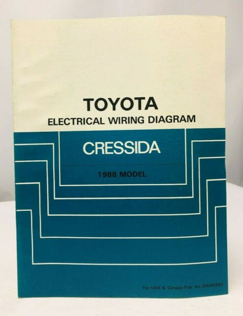 1988 Toyota Cressida Electrical Wiring Diagram Ewd Service