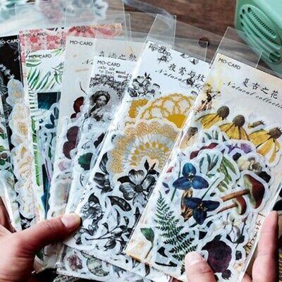 60x Washi Paper Sticker Plant Album Diary DIY Decor Scrapbooking Stickers Craft