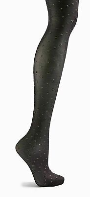 2 x Topshop Silver Gold Metallic Thread Tights S//M Small Medium NEW Black Party