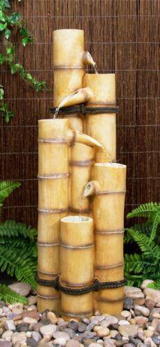 5-stufiger Bambus Brunnen Wasserspiele Garten Dekoration 88cm x 29cm x 30cm