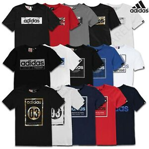 Boys-Adidas-T-Shirts-Tops-Short-Sleeve-Kids-Tee-Junior-Age-9-10-11-12-13-14-Yrs