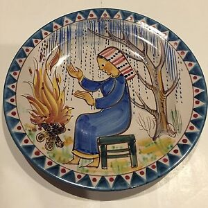Italian Pinto Vietri Hand Painted Majolica Decorative Wall Plate ...