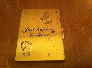 vintage pocket photo holder Just Happen To Have Kids Picture Metal Cute Antique