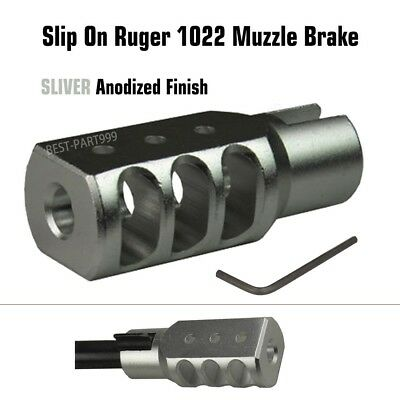 NEW Slip On Ruger 1022 10 22 Muzzle Brake Tanker Style