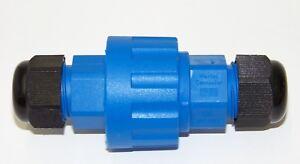 schwarz IP68 3-polig 5-polig Master Connector Kabelmuffe Kabelverbinder blau