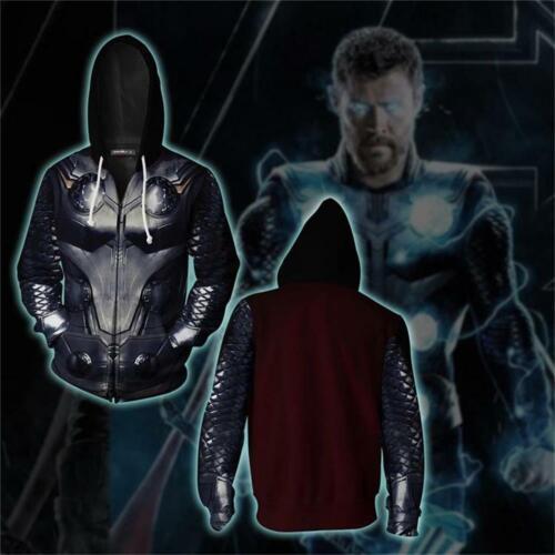 The Avenger 4 Thor Hoodies Zip Up Sweatshirt Jacket Casual coat