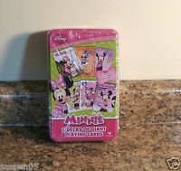 Disney Minnie Mouse Giant Card Game Tin 2 Decks And Sealed