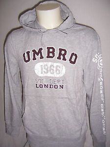 SWEAT-a-Capuche-neuf-Umbro-adulte-Dodge-taille-M-ou-L-ou-XL-coloris-gris-chine