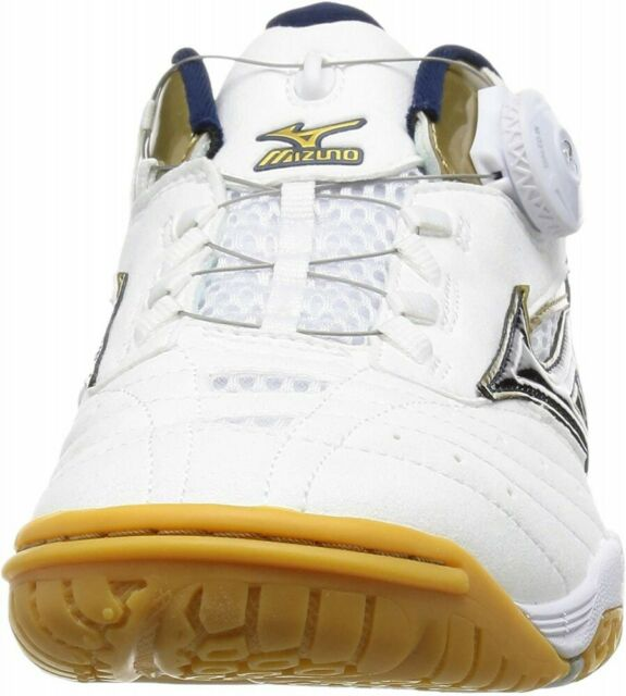 28cm F//S NEW MIZUNO Table Tennis Shoes WAVE MEDAL SP3 81GA1512 White Gold US10