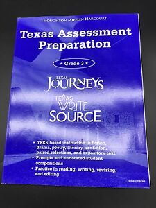 Texas Journeys Test Prep Reading 3rd Grade Student Practice Book