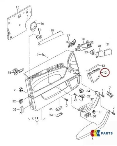 New Genuine AUDI A3 8P 04-13 Bose Porte Avant O//S Droit Speaker cover 8P0035420A